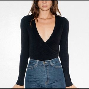 American Apparel Black Bodysuit